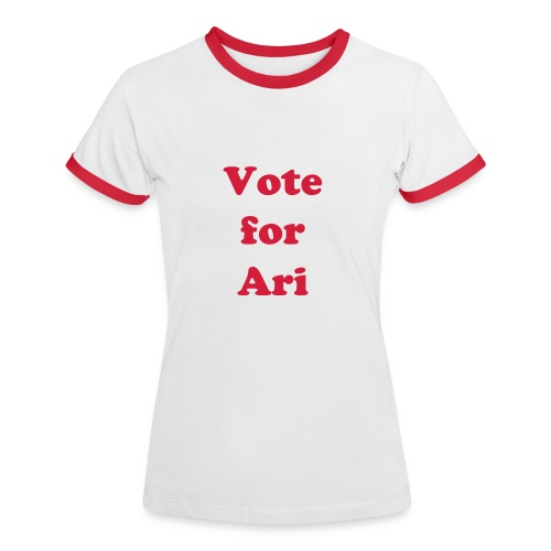 Vote for Ari - T-shirt contrasté Femme