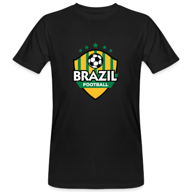 Black Brazil Football (DD) Men's T-Shirts
