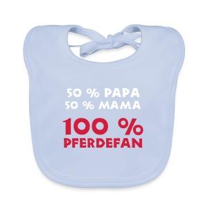 100 % Pferdefan - Baby Bio-Lätzchen