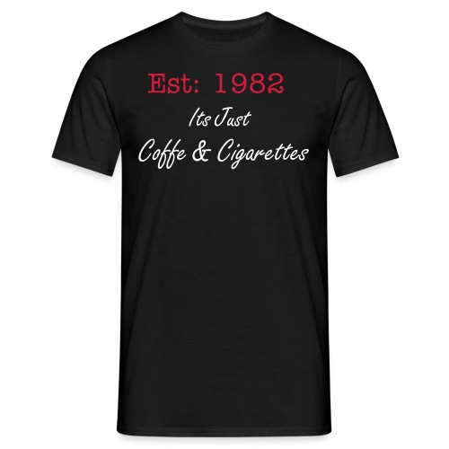 Coffe and Cigarettes - T-shirt herr