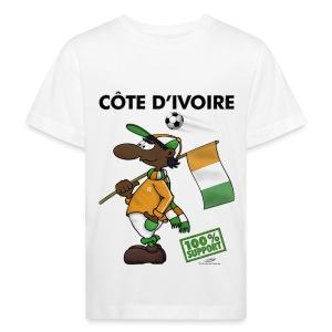 Bio-Fanshirt Cote d'Ivoire Kids - Kinder Bio-T-Shirt