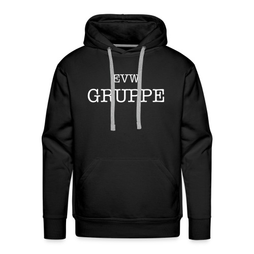 EVW Gruppe Hoodie Design on Front Only - White Text - Men's Premium Hoodie