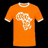 T-Shirts ~ Men's Ringer Shirt ~ Men's Expekt 2010 Football T-Shirt Orange/white