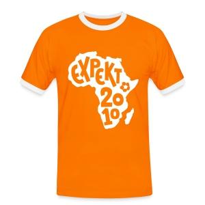 Men's Expekt 2010 Football T-Shirt Orange/white - Men's Ringer Shirt