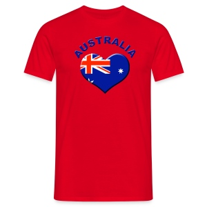 Heart for Australia Fanshirt  - Männer T-Shirt