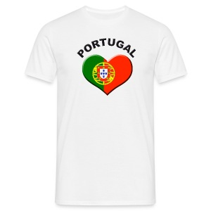Heart for Portugal Fanshirt  - Männer T-Shirt