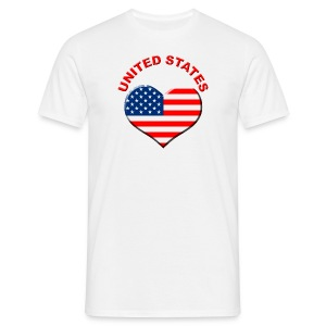 Heart for USA Fanshirt  - Männer T-Shirt