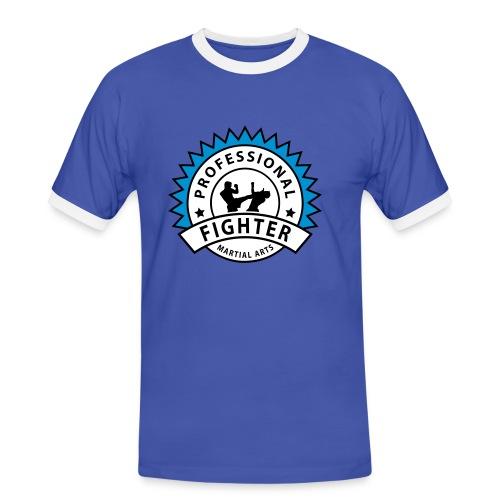 Blau/weiß prof_fighter_2 T-Shirts - Männer Kontrast-T-Shirt