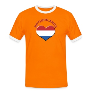 Heart for Netherlands Fanshirt  - Männer Kontrast-T-Shirt