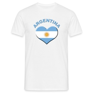 Heart for Argentina Fanshirt  - Männer T-Shirt