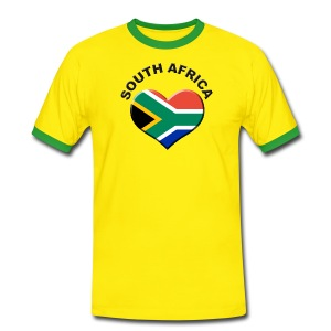 Heart for South Africa Fussball Fanshirt  - Männer Kontrast-T-Shirt