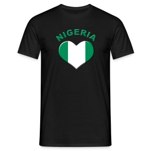 Heart for Nigeria Fanshirt  - Männer T-Shirt