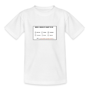 When I grow up I want to be a computer programmer - Teenage T-shirt