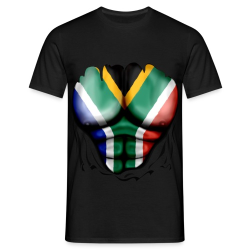 south africa  ripped muscles black - Men's T-Shirt