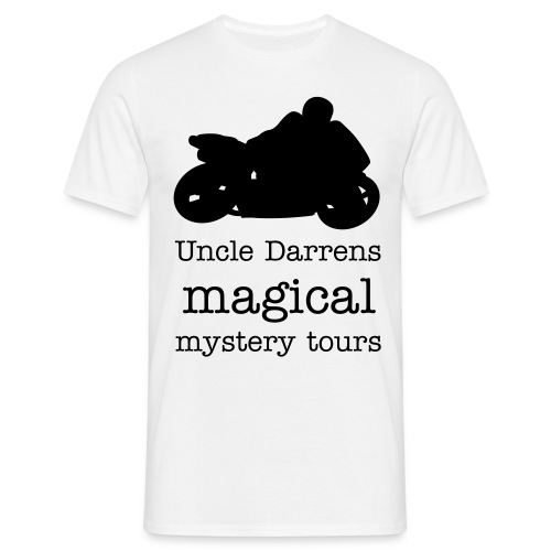 uncle darrens magical mystery tours - Men's T-Shirt