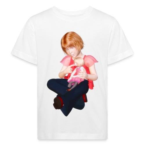 Meisje met pop - Kinderen Bio-T-shirt