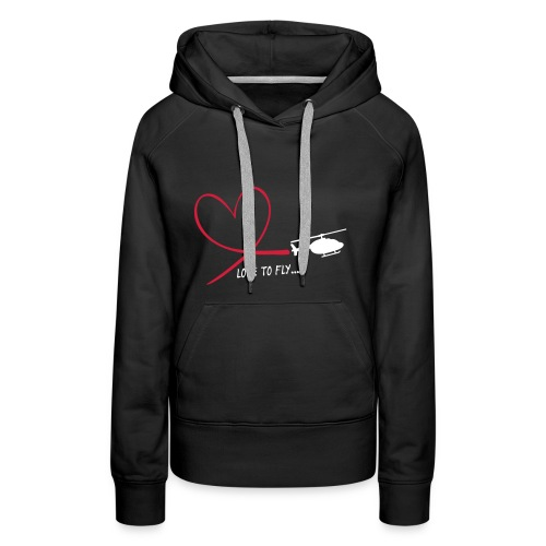 Love to fly - Frauen Premium Hoodie
