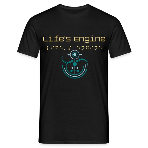 Life's Engine Crop Circle T-Shirt BLK - Männer T-Shirt