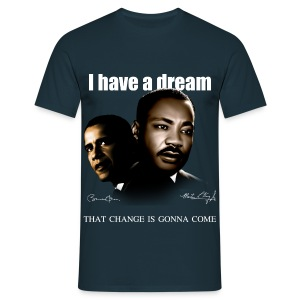 Obama and MLK - T-shirt Homme