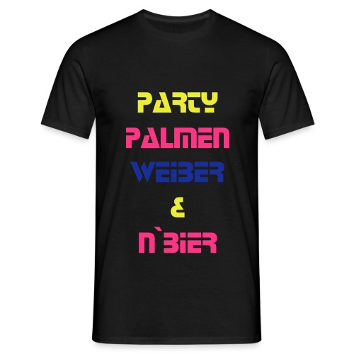 Party Palmen... - Männer T-Shirt