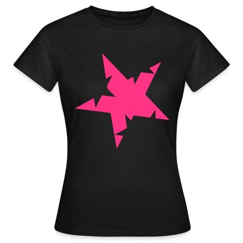 Tähti t-paita (pinkki) - Naisten t-paita