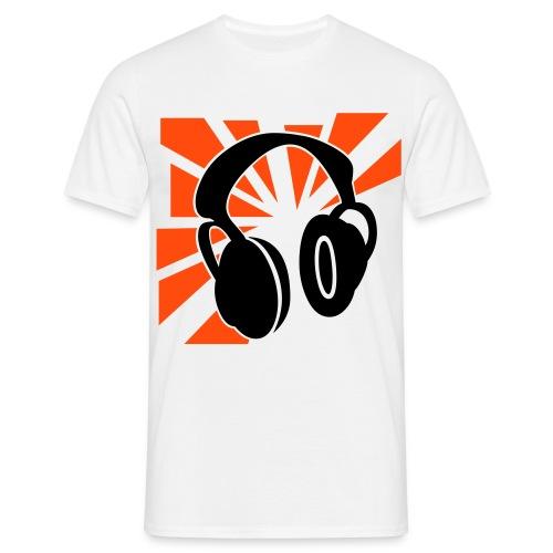 Kuuloke t-paita (oranssi) - Miesten t-paita