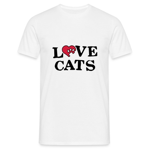 Mens/Unisex 'Love Cats' T-Shirt - Men's T-Shirt
