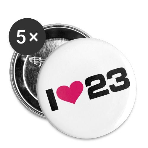 Badge 23 - Lot de 5 petits badges (25 mm)