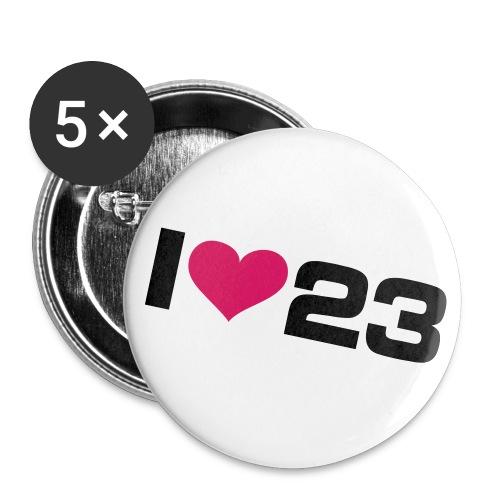 Badge 23-3 - Lot de 5 grands badges (56 mm)