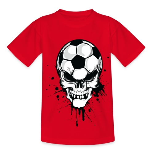 Jalkapallopää lasten t-paita  - Nuorten t-paita