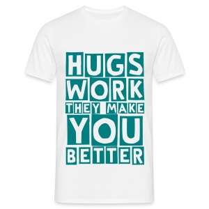 hugs work (M) - Men's T-Shirt