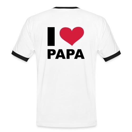 Männer T-Shirt I love Papa - Männer Kontrast-T-Shirt