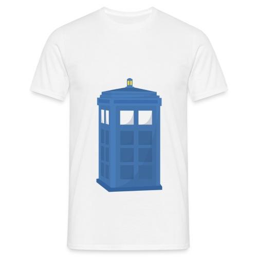 Blue Phone Box T-Shirt - Men's T-Shirt