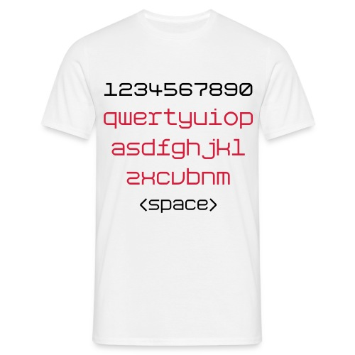 Qwertyshirt - Men's T-Shirt