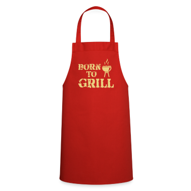 Red Black Black Born to Grill T-Shirts T-Shirts  Aprons