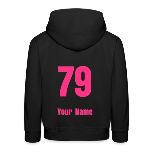 Design your own - Change the Number & Add name  - Kids' Premium Hoodie