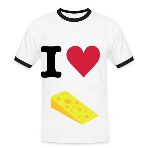 I Heart Cheese - Men's Ringer Shirt