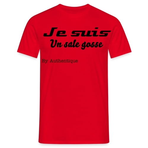 T-shirt Rouge homme  Authentique  Avant - T-shirt Homme