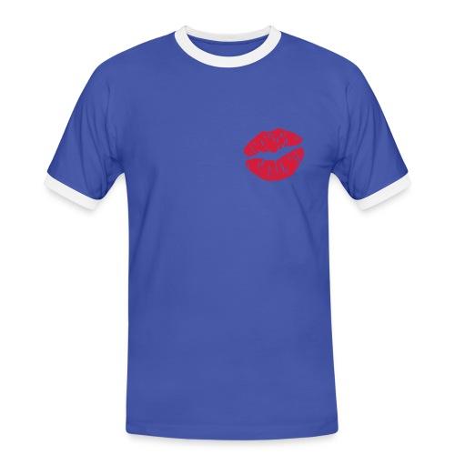 CAMISETA BESO - Camiseta contraste hombre