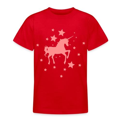 Kinder T-Shirt Einhorn - Teenager T-Shirt