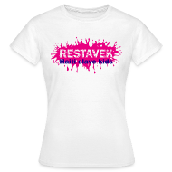 T-Shirts ~ Frauen T-Shirt ~ Frau T-Shirt Restavek Splash 03lila pink © by kally ART®
