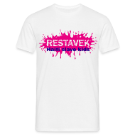T-Shirts ~ Männer T-Shirt ~ Mann T-Shirt Restavek Splash 03lila pink © by kally ART®