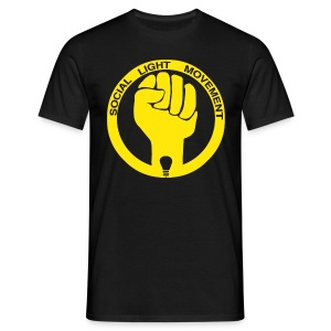 SOCIAL LIGHT MOVEMENT YELLOW (mens classic) - Men's T-Shirt