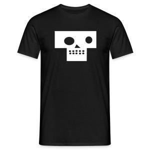 post modern death skull black - Mannen T-shirt