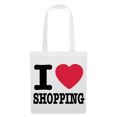 I love shopping - Stoffbeutel