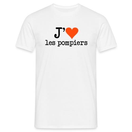 tee shirt homme pompier - T-shirt Homme