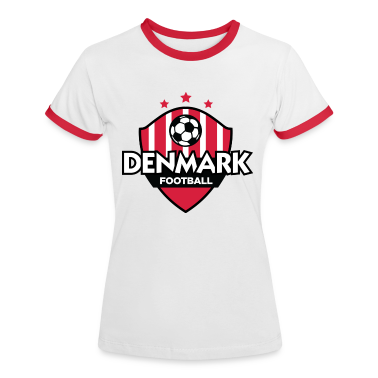White/red Denmark Football (DD) Women's T-Shirts