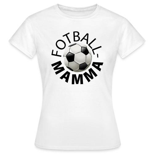 Fotballmamma - T-skjorte for kvinner