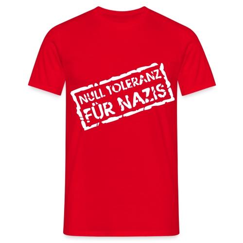 NULL TOLERANZ rot - Männer T-Shirt