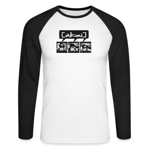 3 acmes - Männer Baseballshirt langarm